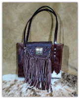 Cowhide Hair on purse with fringe