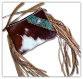 cc102 Cowhide cross body bag with fringe The Carter Bag