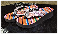 Serape Flip Flop Wedge