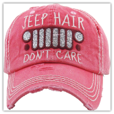 Baseball Cap Jeep hair don't care