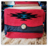 101 Saddle blanket clutch bag, Red