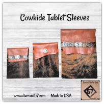 Large cowhide tablet sleeve for IPad Mini