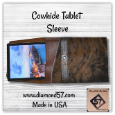 Large cowhide tablet sleeve for Surface Pro