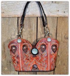137-19 Red Sunset Cowgirl purse
