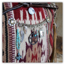 205 Custom Saddle Blanket Bag with leather fringe tassel