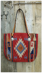 201 Saddle blanket bag, cranberry red, blue, black