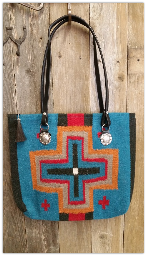 209 Saddle blanket bag,Turquoise Cross