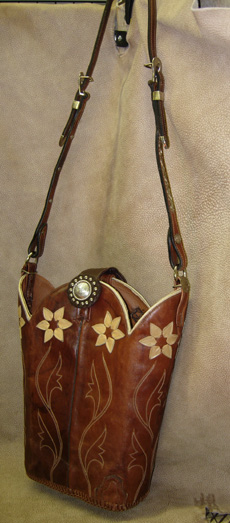 Whimiscal Floral Boot Purse