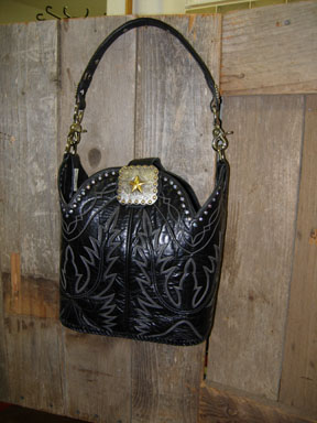 Black leather purse with 2 handles!