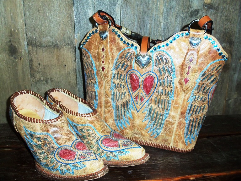 Diamond 57 Cowboy boot purses
