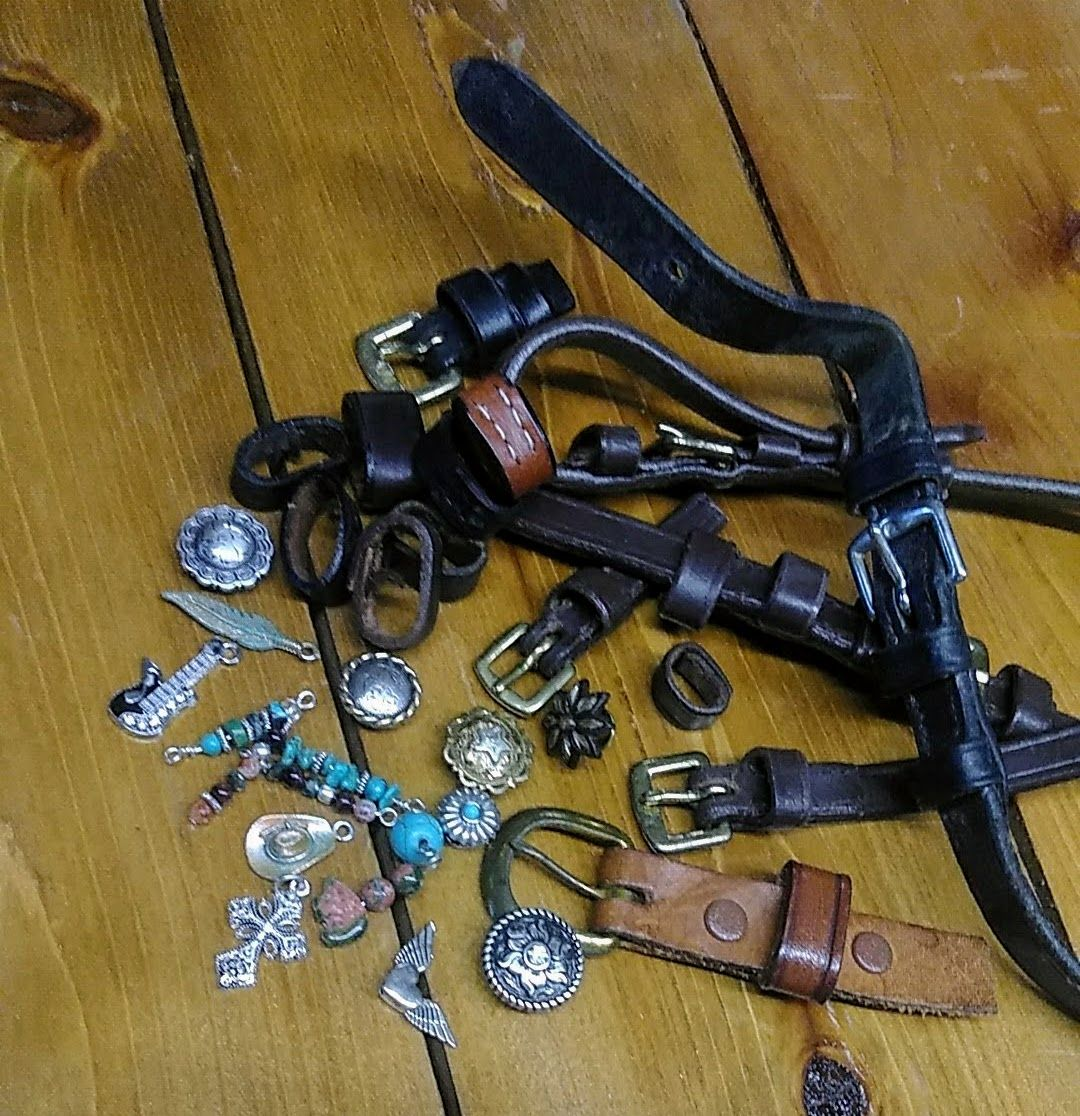 Horse tack buckles for jewelry