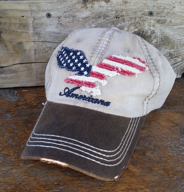 American Eagle rustic ball cap Vintage Style
