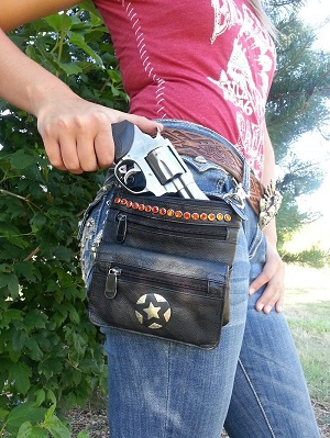 Concealed Carry leather bag