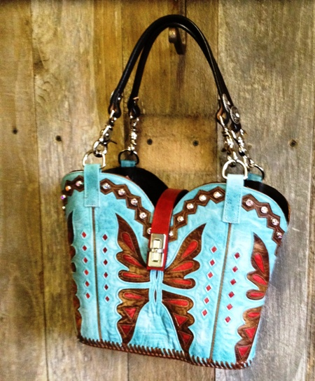 Old Gringo Cowboy boot purse made by Diamond 57