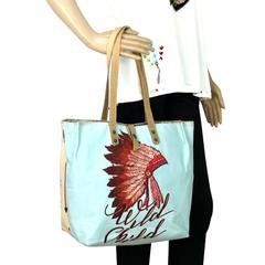 Indian head dress tote